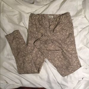 Free People Jeans - Free People Millennium gray floral print size 29